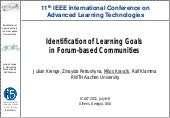 Identification of Learning Goals in...