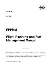 Icao doc 9976 flight planning and fuel management manual