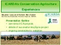 ICARDA's Conservation Agriculture Experiences