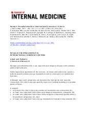 Journal of Internal Medicine: Myalg...