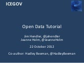 Open Data Tutorial at ICEGOV