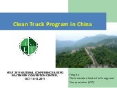 I cet feng an clean truck program i...