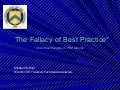 Ruffner Fallacy of Best Practice