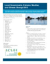 Iclei local governments, extreme we...