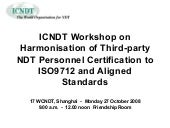 Icndt on harmonisation of Third Par...