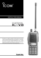 Icom ic v8-manual