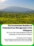 The Inconvenient Realities of Protected Area Management in the Philippines