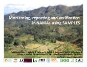 Monitoring, reporting and verification in NAMAs using SAMPLES