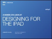 A Hands-on Look at Designing for the iPad