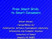 Smart Grid to Smart Consumers (ICS ...