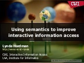 Using semantics to improve interact...