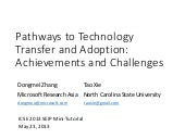 Pathways to Technology Transfer and...