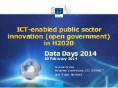 Ict enabled public sector innovation in h2020