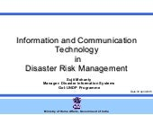 Ict In Disaster Risk Reduction  Ind...