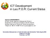 ICT Development in Lao P.D.R, 2008
