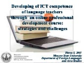 ICT competence of Language Teachers