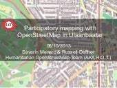 Participatory mapping with OSM in U...