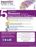 Top 5 Reasons to Attend Impact Comes to You!