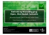 Rethinking Microblogging: Open Dist...
