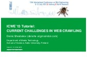 Current challenges in web crawling
