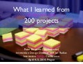 What I learned from 200 projects (IDC Prague)
