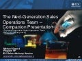 The Next Generation Sales Operations Team