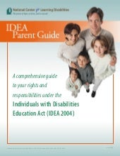 IDEA 2004 Parent Guide