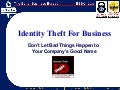 Identity Theft Information for Businesses