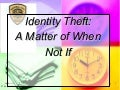 Identity Theft Scams
