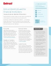 Entrust IdentityGuard for Financial...