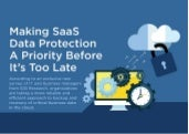 Making SaaS Data Protection a Priority Before It's Too Late