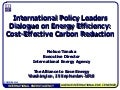 Nobuo Tanaka, IEA: Cost-Effective Carbon Reduction
