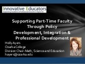 Supporting Part-Time Faculty Throug...