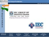 IEC Group of Institutions| Greater ...