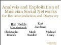 IEEE-THEMES: Analysis and Exploitation of Musician Social Networks for Recommendation and Discovery
