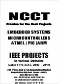 Ieee Embedded Ieee Project Titles, 2009   2010 Ncct Final Year Projects