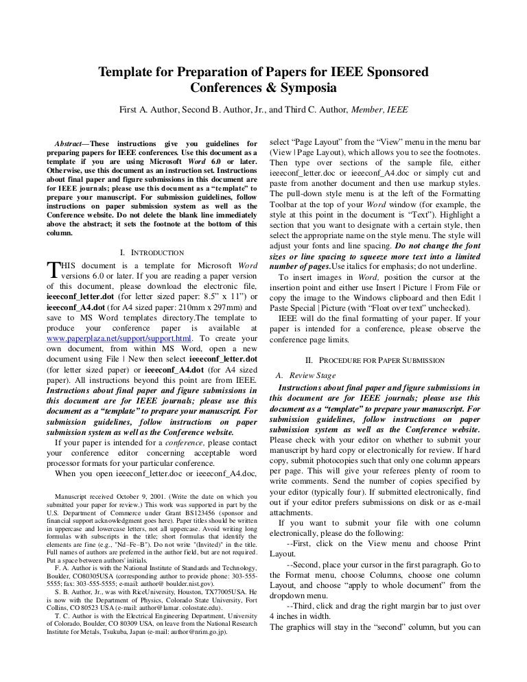 ieee research paper format - templates on pinterest pins ieee ...