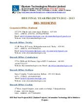 Ieee projects 2012 2013 - bio med