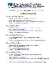 Ieee projects 2012 2013 - Cloud Com...