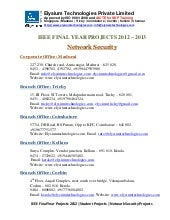 Ieee projects 2012 2013 - Network S...