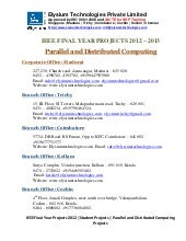 Ieee projects 2012 2013 - Parallal ...