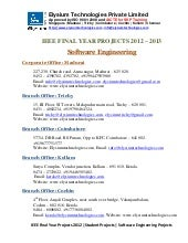 Ieee projects 2012 2013 - Software ...
