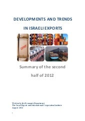 Developments and trends in Israeli ...