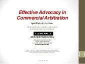 Effective Advocacy in Commercial Ar...