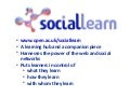IET Coffee Morning SocialLearn Presentation