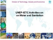 UNEP IETC Water and santiation acti...