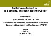 Sustainable agriculture: is it opti...