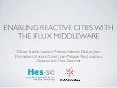 Enabling reactive cities with the iFLUX middleware