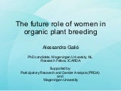 IFOAM Women and Organic Plant Breed...