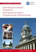 International Foundation Programme with Cultural Studies - University of Greenwich- Intelligent Partners